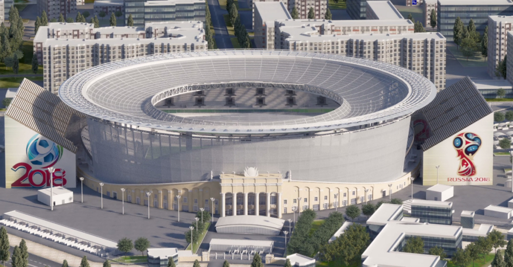 Yekaterinburg Arena – a new stadium is opened for FIFA Cup 2018